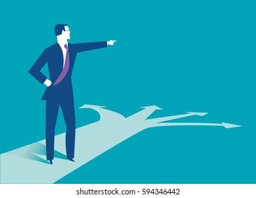 Businessman making the best choice. Business concept illustration.