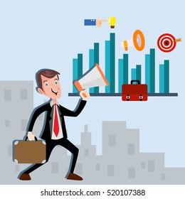 Businessman manager marketing finance vector