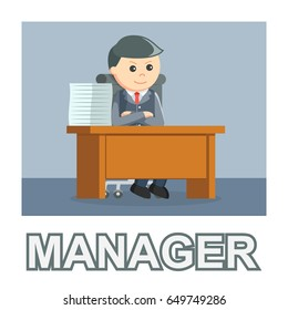 businessman manager photo text style