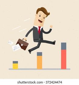 Businessman, manager. Schedule. Illustration, vector EPS10