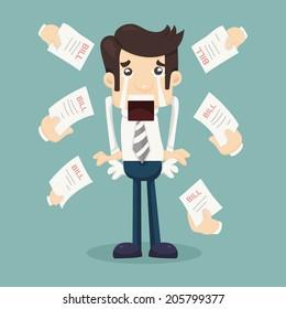 Businessman no money , eps10 vector format