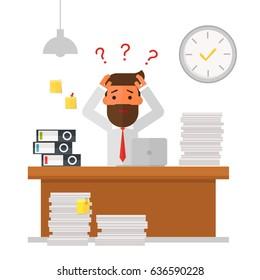 businessman overworked and under stress