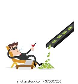 businessman and passive income