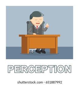 businessman perception photo text style
