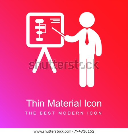 businessman presentation pointing board graphics red stock vector