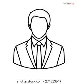Businessman profile picture. User sign icon. Person symbol. Human avatar.