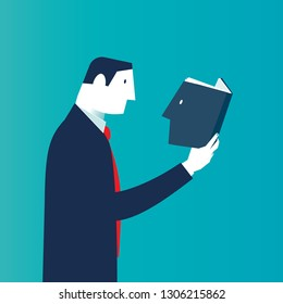 Businessman rediscovering himself. Business concepts. - Vector