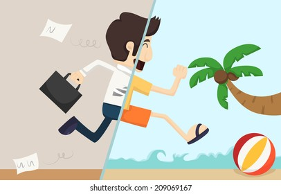 Businessman relaxing,  eps10 vector format