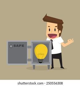 Businessman safe idea.vector