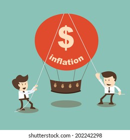 Businessman stabilize inflation