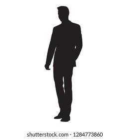 standing businessman silhouette cartoon royalty free - 260×280