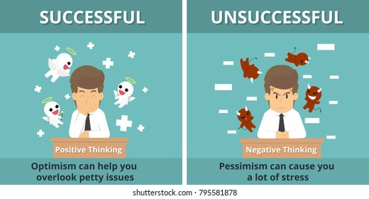 Businessman successful and Businessman unsuccessful. Cartoon of business, employee successful and unsuccessful is the concept of the business man characters, background,infographic. Illustration vector