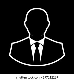 man suit icon stock vector royalty free 439428352 shutterstock Bathing Suit Logos businessman in suit head vector icon