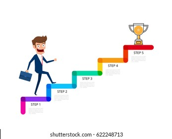 Cartoon Stairs Images Stock Photos Vectors Shutterstock