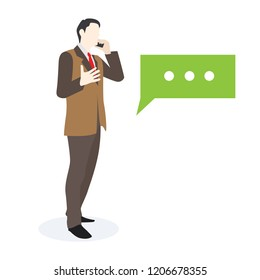 Businessman Talking on phone, Online  support 24/7