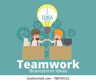 businessman and teammate or partners business people giving fist bump after complete a deal in the office,colleagues collaboration.cartoon employee success,teamwork concept.illustration vector