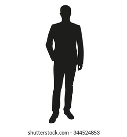 Businessman vector silhouette