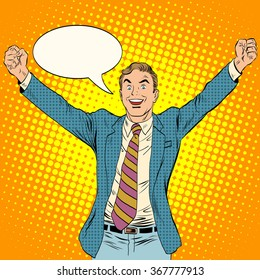 businessman winner business concept