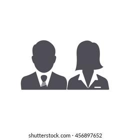 Businessman. woman Icon.