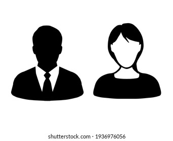 Businessman and women icon.  vector design illustration.