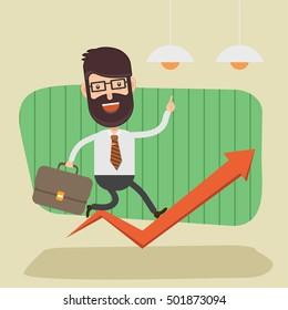 Businessman,employee concept design on clean background,vector