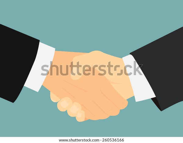 businessman's hand shaking