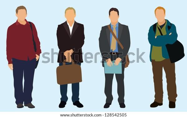 Businessmen carrying a bag