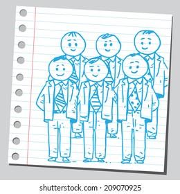 Businessmen management team