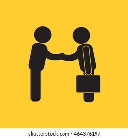 Businessmen salutation icon