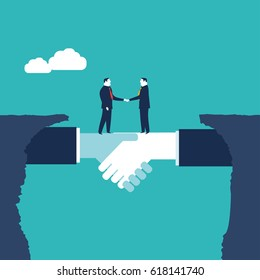 Businessmen shaking hands. Business concept illustration