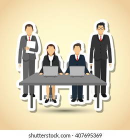 businesspeople graphic design , editable vector