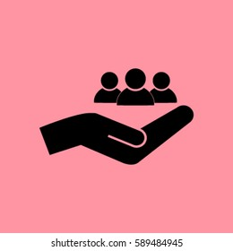 Businesspeople icon - teamwork & relationship concept