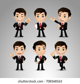 Businessperson with different poses