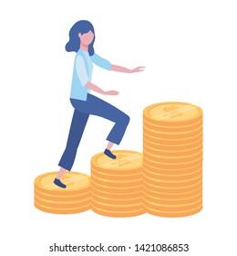 Businesswoman avatar cartoon design vector illustration