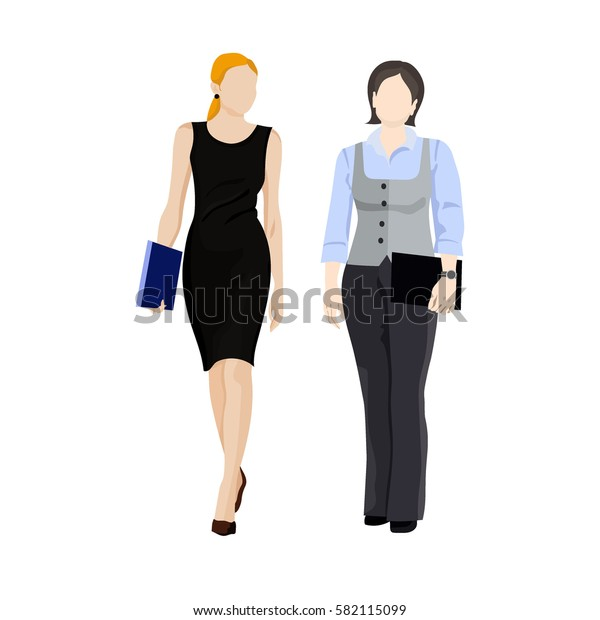 Businesswoman characters, female office worker flat illustration isolated