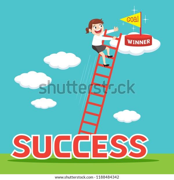 View Success Cartoon Ladder