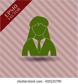 Businesswoman icon or symbol