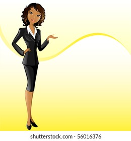 businesswoman (presenting)