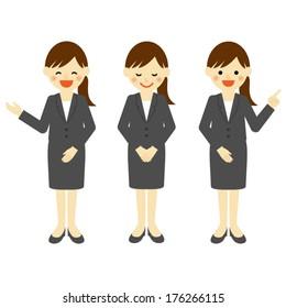 Businesswoman / Vector EPS 10 illustration