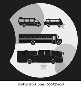Busses icon set.