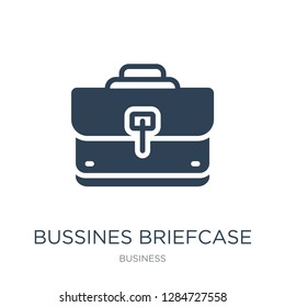 bussines briefcase icon vector on white background, bussines briefcase trendy filled icons from Business collection, bussines briefcase vector illustration
