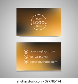 Bussines Card Design for a company Logo. Two sides design with company Data.