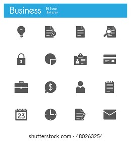 bussines gray flat icons