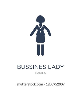 Bussines Lady icon. Trendy flat vector Bussines Lady icon on white background from Ladies collection, vector illustration can be use for web and mobile, eps10