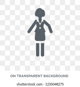 Bussines Lady icon. Trendy flat vector Bussines Lady icon on transparent background from Ladies collection.