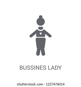 Bussines Lady icon. Trendy Bussines Lady logo concept on white background from Ladies collection. Suitable for use on web apps, mobile apps and print media.