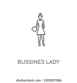Bussines Lady linear icon. Bussines Lady concept stroke symbol design. Thin graphic elements vector illustration, outline pattern on a white background, eps 10.