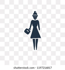 Bussines Lady vector icon isolated on transparent background, Bussines Lady transparency concept can be used web and mobile