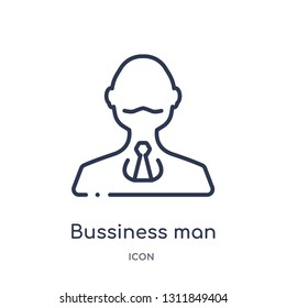 bussiness man icon from people outline collection. Thin line bussiness man icon isolated on white background.
