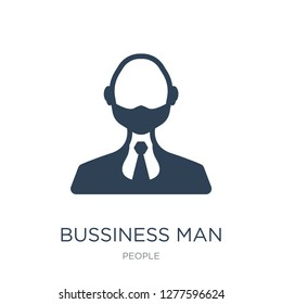 bussiness man icon vector on white background, bussiness man trendy filled icons from People collection, bussiness man vector illustration